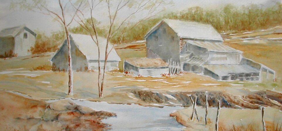 Fall Farm Scene