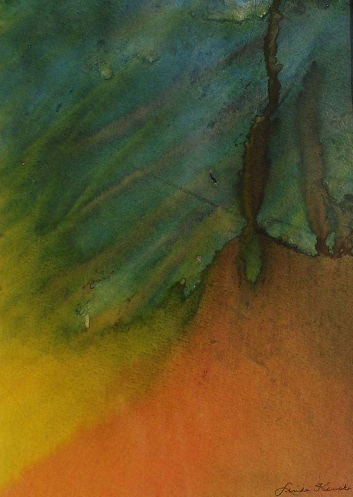 Abstract Acrylic volcano 0303