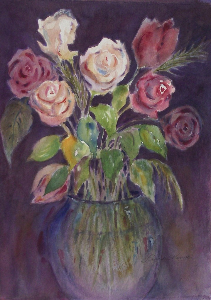 Vase of roses 0427